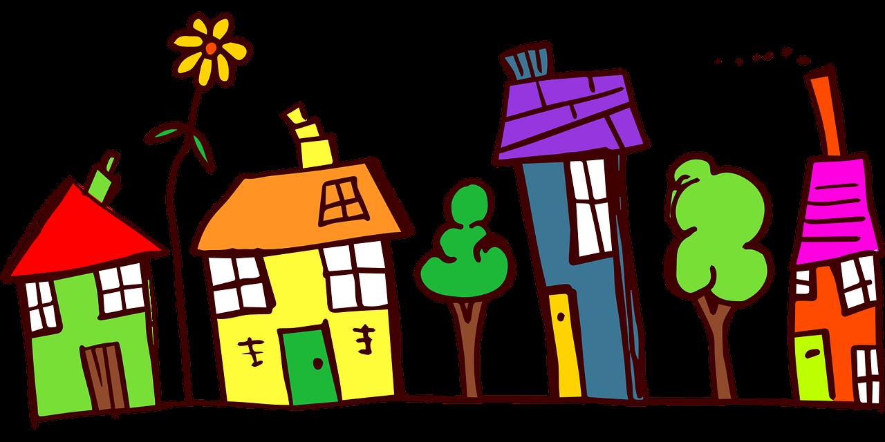 Řada domků