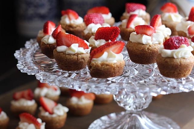 dortíčky s jahodami